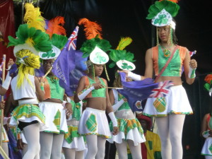 "3.2 ""Emerald Splendour"" mas troupe on Festival Day"