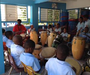 4.6 West African drumming lessons at St. Augustine