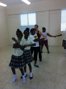 4.7 Irish dancing lesson at Lookout Primary School